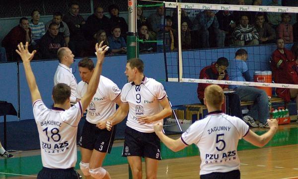 Siatkarze PZU AZS Olsztyn po raz drugi pokonali Resovię 3:0. Fot. Łukasz Laskowski /Agencja Przegląd Sportowy