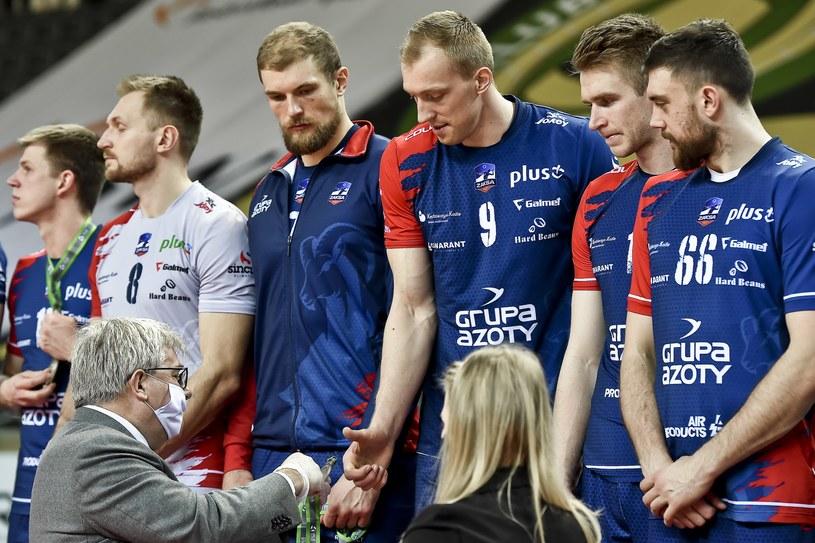 Siatkarze ZAKSA Kędzierzyn-Koźle na podium mistrzostw Polski /Marcin Bulanda / PressFocus / NEWSPIX.PL /Newspix