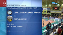 Siatkówka. Cerrad Enea Czarni Radom - Trefl Gdańsk 0-3. - skrót (POLSAT SPORT). WIDEO