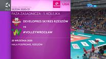 Siatkówka. Developres SkyRes Rzeszów – #VolleyWrocław 3-1 - skrót (POLSAT SPORT). WIDEO