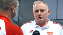 Siatkówka. Jacek Nawrocki po meczu z Czechami (3:2). Wideo