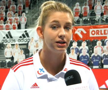 Siatkówka. Magdalena Stysiak po meczu ze Szwajcarią.