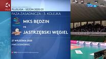 Siatkówka. MKS Będzin - Jastrzębski Węgiel 1-3 - skrót (POLSAT SPORT). WIDEO