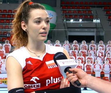 Siatkówka. Zuzanna Górecka po meczu z Czechami (3:2). Wideo