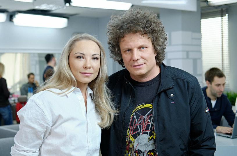 Sidney Polak z żoną, Pauliną Szendal /East News