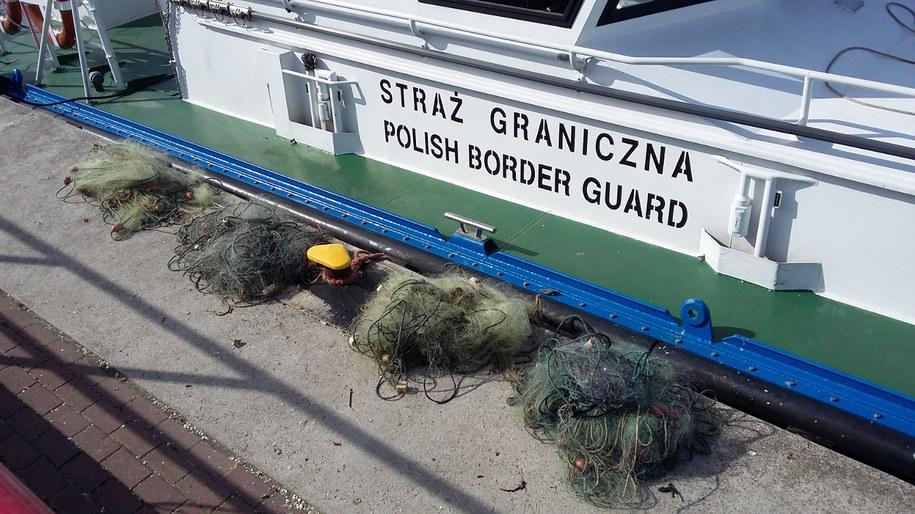 sieci wyłowione przez Morski Oddział Straży Granicznej /Morski Oddział SG /Straż Graniczna