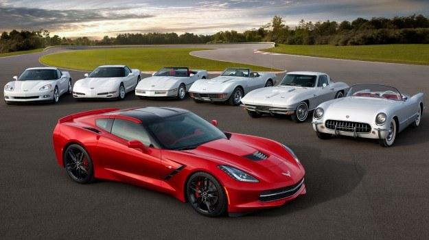 Siedem generacji Chevroleta Corvette /Chevrolet