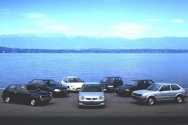 Siedem generacji Hondy Civic (kliknij) /INTERIA.PL