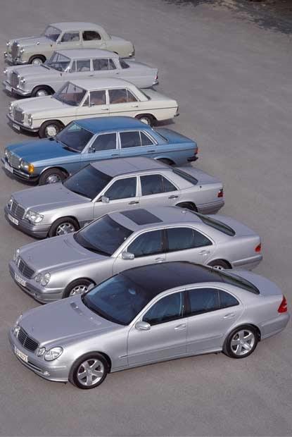Siedem generacji mercedesa klasy E / kliknij /INTERIA.PL