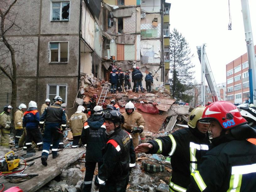 Siedem osób zginęło w następstwie wybuchu gazu w Jarosławiu /PAP/EPA