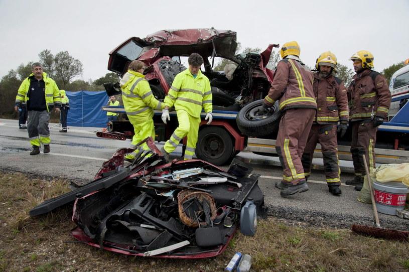 Siedem osób zginęło w zderzeniu dwóch samochodów w północnej Hiszpanii. /PAP/EPA