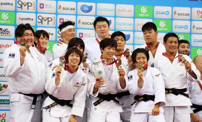 Siedem złotych medali zdobyli reprezentanci Japonii w Baku /PAP/EPA