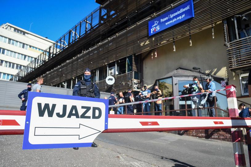 Siedziba PiS przy ul. Nowogrodzkiej w Warszawie /Zbyszek Kaczmarek /Reporter