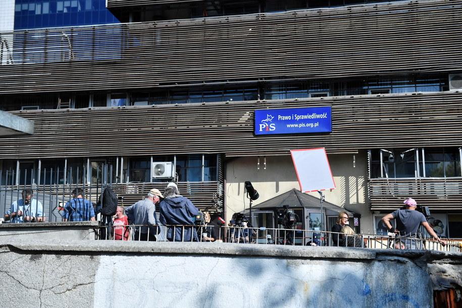 Siedziba Prawa i Sprawiedliwości przy ul. Nowogrodzkiej w Warszawie / Radek Pietruszka   /PAP
