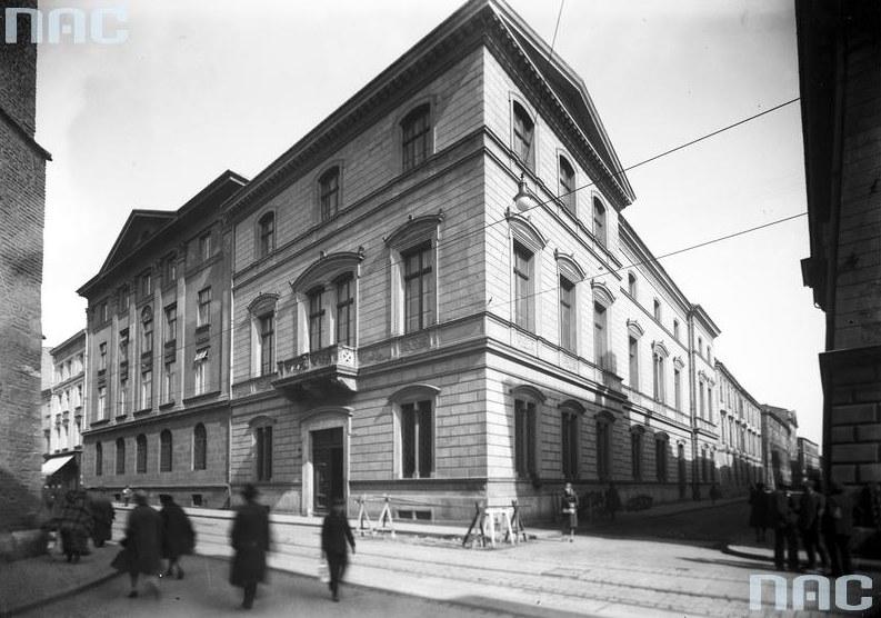 Siedziba Towarzystwa u zbiegu ulic św. Marka i Sławkowskiej w Krakowie /Z archiwum Narodowego Archiwum Cyfrowego