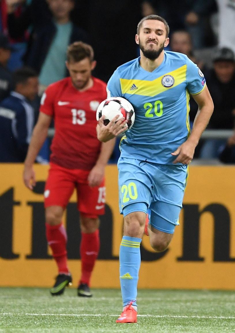 Siergiej Chiżniczenko strzelił dwa gole Polakom /Fot. Bartłomiej Zborowski /PAP