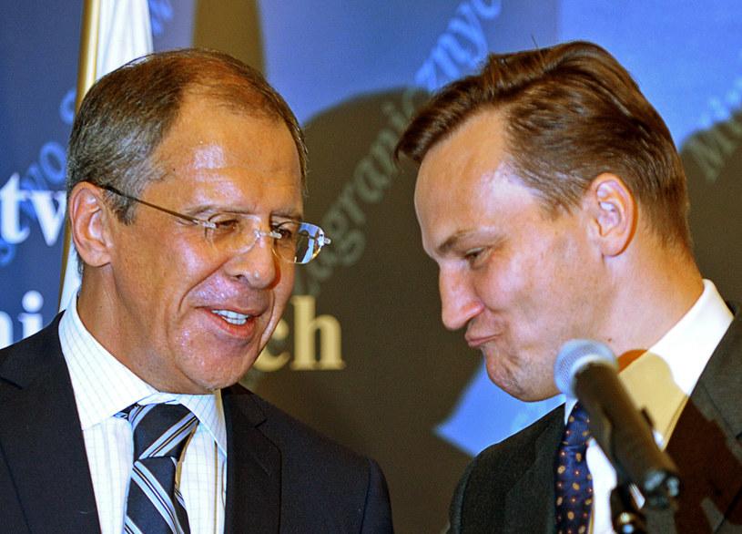Siergiej Ławrow i Radosław Sikorski /AFP