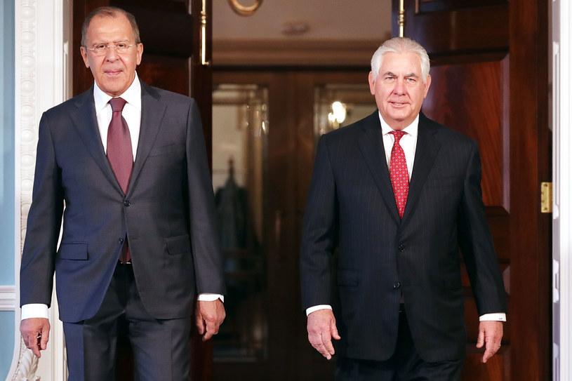 Siergiej Ławrow i Rex Tillerson /Chip Somodevilla /AFP