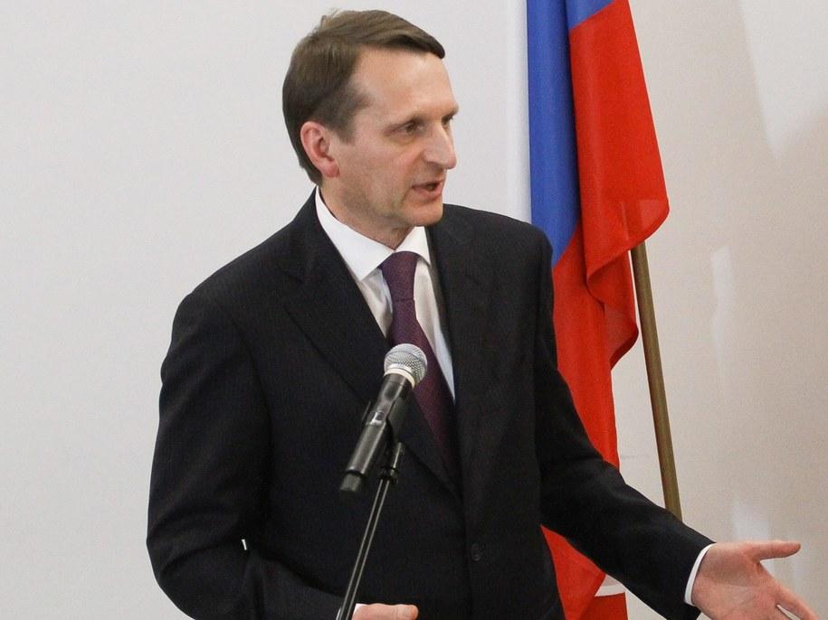Siergiej Naryszkin / Paweł Supernak   /PAP