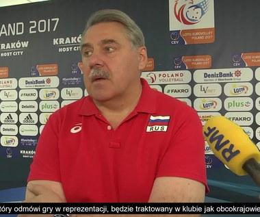 Siergiej Szljapnikow po meczu ze Słowenią (3:0). Wideo
