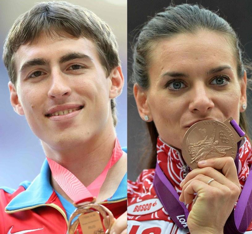 Siergiej Szubienkow (110 m ppł) i Jelena Isinbajewa (skok o tyczce) /AFP
