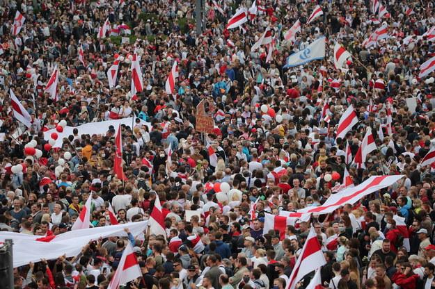 Sierpniowe protesty na Białorusi /TATYANA ZENKOVICH  /PAP/EPA