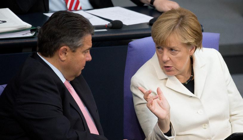 Sigmar Gabriel i Angela Merkel /AFP