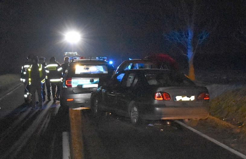 Siła uderzenia była tak duża, że jeden z policjantów złamał nogę /Policja
