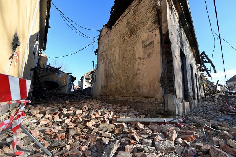 Silne trzęsienie ziemi w Chorwacji /AFP