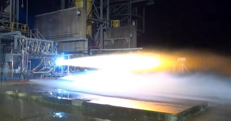 Silnik BE-7 podczas testów /materiały prasowe