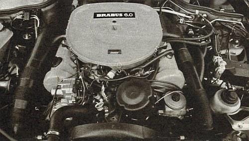 Silnik Brabus 6,0 czyli wersja rozwojowa silnika Mercedesa 560. Moc maksymalna 250 kW. /Brabus
