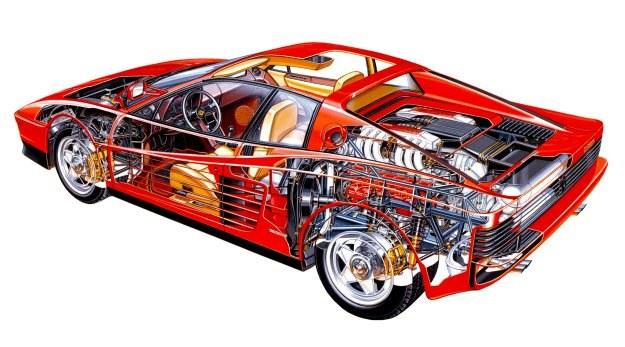Silnik Testarossy to w tej chwili najbardziej skomplikowana jednostka tłokowa na świecie. /Ferrari