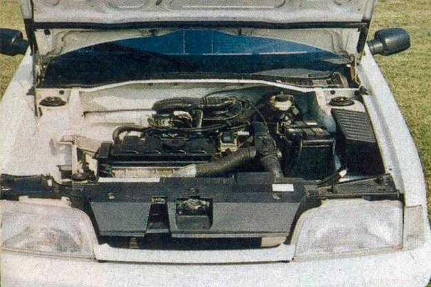 Silniki w dużym wyborze, wszystkie ustawione poprzecznie z przodu, napędzały koła przednie. Na ilustracji silnik benzynowy 1.1. /Motor
