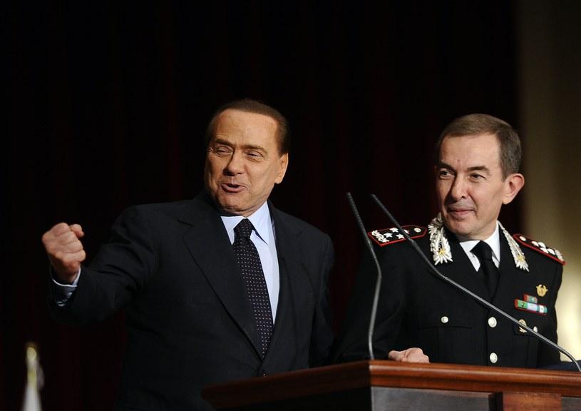 Silvio Berlusconi i Leonardo Gallitelli /AFP