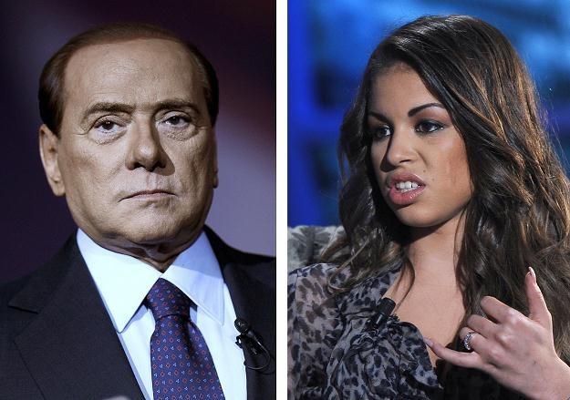 Silvio Berlusconi i Ruby /AFP