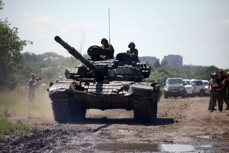 Siły separatystów w Doniecku /ALEKSEY FILIPPOV / AFP /AFP