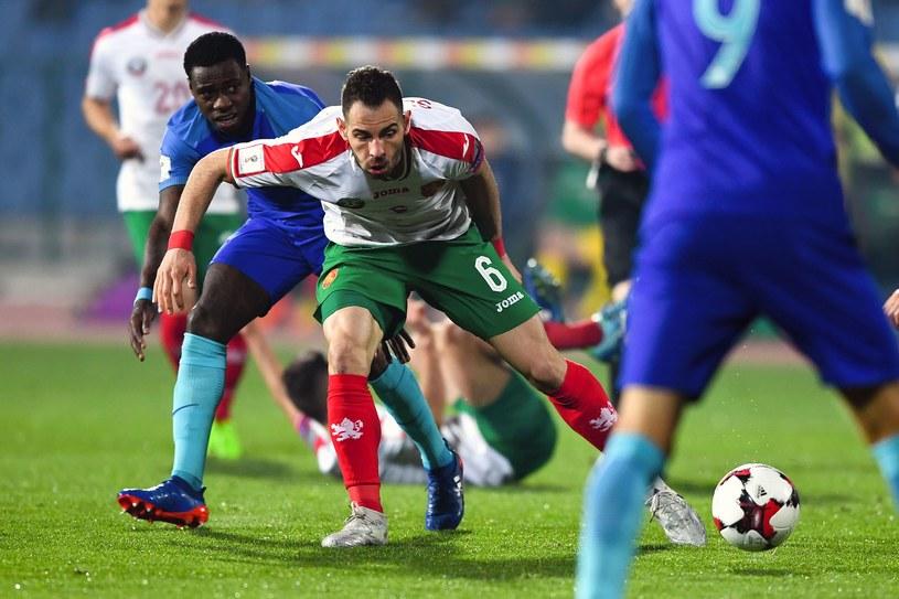 Simeon Sławczew w meczu z Holandią /AFP