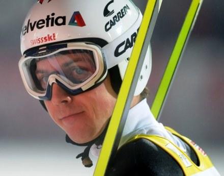 Simon Ammann - jeden z głównych kandydatów do złota w Vancouver /AFP