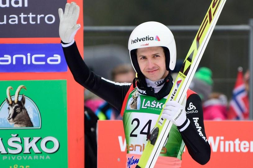 Simon Ammann to jeden z najbardziej utytułowanych skoczków świata /AFP JURE MAKOVEC /AFP