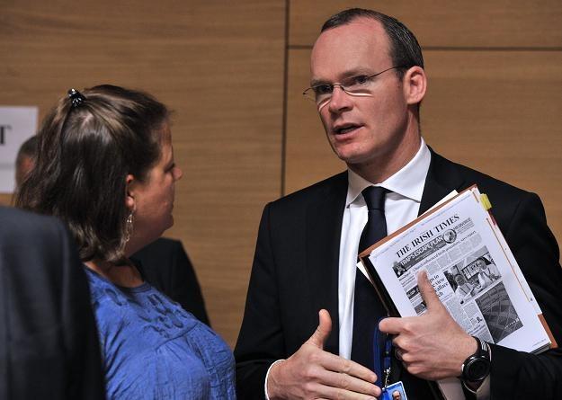 Simon Coveney, irlandzki minister rolnictwa (P) /AFP