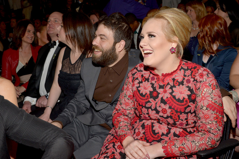 Simon Konecki i Adele w 2013 r. podczas ceremoni Grammy /Lester Cohen/WireImage /Getty Images