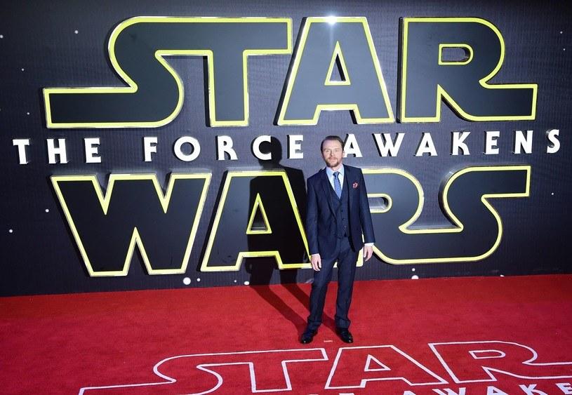 """Simon Pegg na premierze """"Przebudzenia mocy"""" /AFP"""
