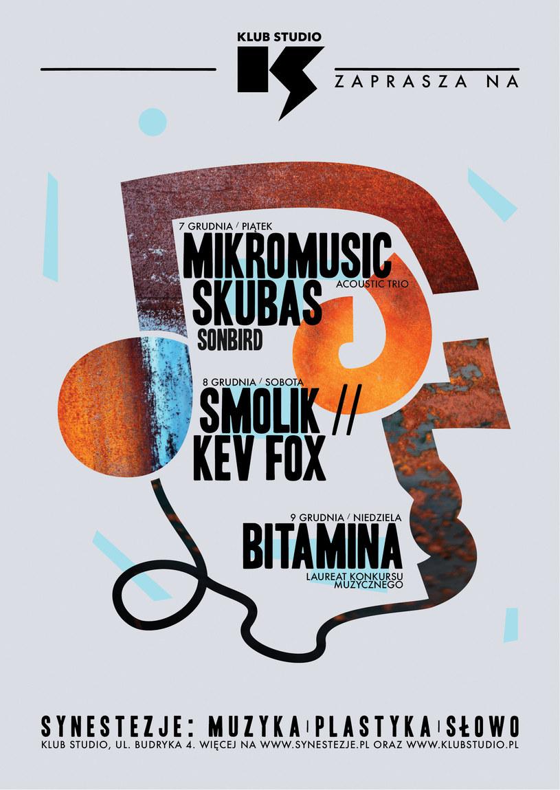 Siódma edycja Festiwalu Synestezje w krakowskim Klubie Studio w terminie 7-9.12.2018 /materiały prasowe