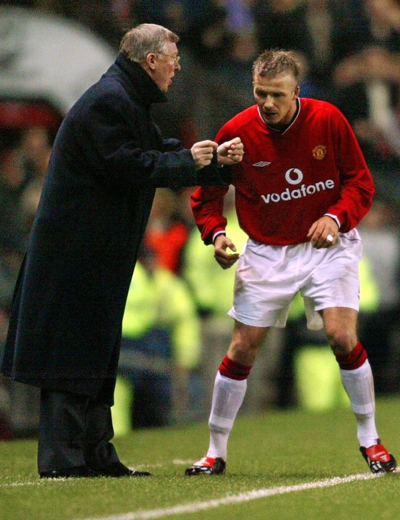 Sir Alex Ferguson i David Beckham /AFP