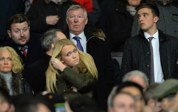 Sir Alex Ferguson na trybunach podczas meczu Manchesteru United z Sunderlandem /AFP