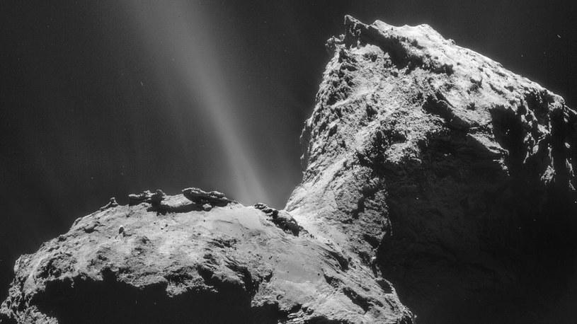 Skąd na komecie 67P wziął się tlen cząsteczkowy? /materiały prasowe