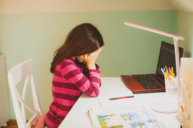 """""""Skala uzależnień behawioralnych jest już zupełnie inna. Niestety, posadzenie dzieci i młodzieży na tak długie godziny przed komputerami spowodowało wzrost tego uzależnienia."""" /123RF/PICSEL"""