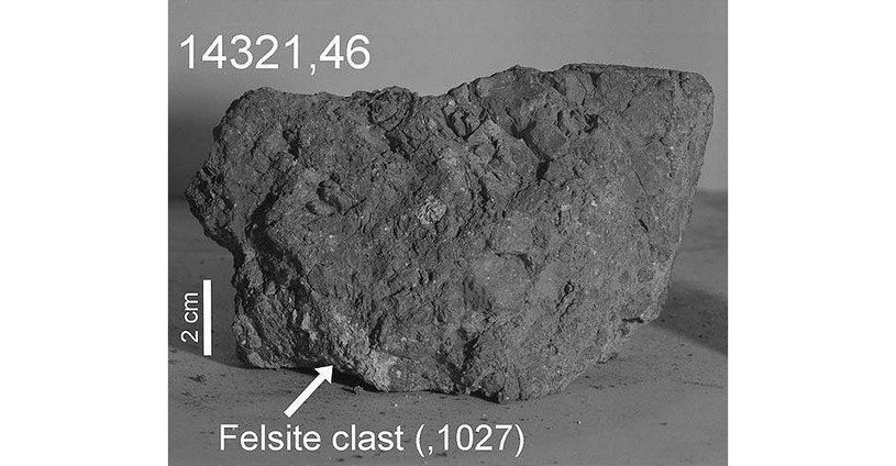 Skała, w której wykryto ziemski okruch skalny /materiały prasowe
