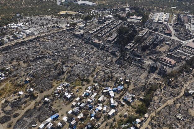 Skala zniszczeń na Lesbos widziana z perspektywy lotu ptaka /DIMITRIS TOSIDIS /PAP/EPA