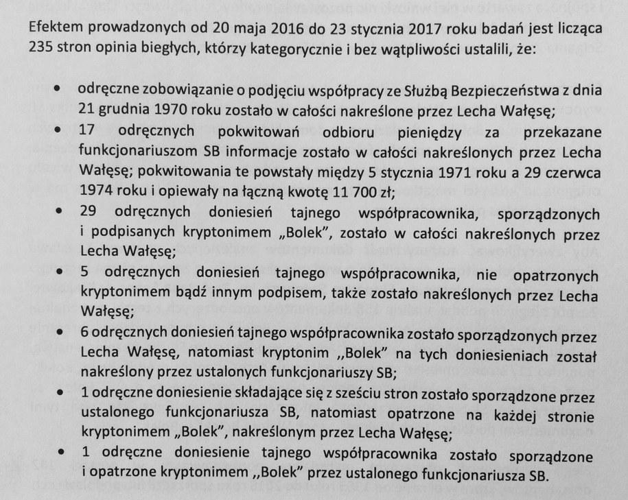 Skan wniosków IPN /Zrzut ekranu